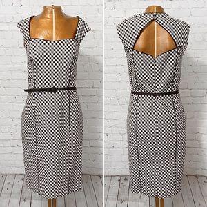 WHBM Modern Gingham Sheath Dress